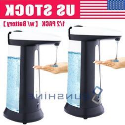 1 2pc automatic soap dispenser touch less