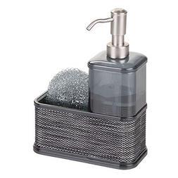 1 Piece Kitchen Sink Caddy with Soap Dispenser Sponge Holder