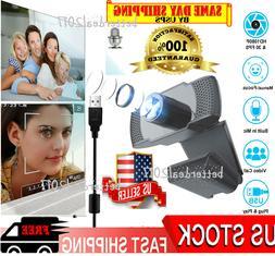 1080P Full HD USB Webcam Web Camera w/Mic VIDEO Recording fo