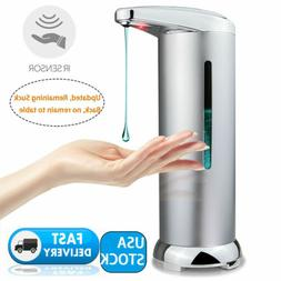 10oz Stainless Steel Auto Handsfree Sensor Touchless Soap Di