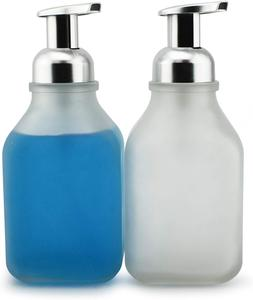 Cornucopia Brands 16-Ounce Square Glass Foaming Soap Dispens
