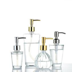 1pc Glass Soap Dispenser Cosmetic Supply Lotion Pump Bottle