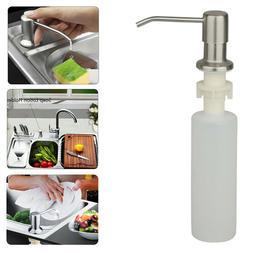 1X300ML Stainless Steel Soap Dispenser Kitchen Sink Soap Han