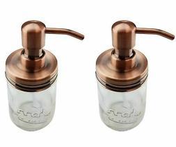2 Copper Mason Jar Soap Dispenser Lids  Rust Proof JARS NOT