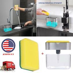 Soap Dispenser for Kitchen + 2-in-1 Sponge Holder  - Quality