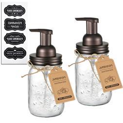 2 pack Mason Jar Foaming Soap Dispenser Pump Hand Qtip Apoth