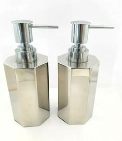 Octagon Shape Soap Pump Dispenser Metal Stainless Steal 2 Pa