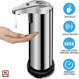 250ml Stainless Auto Handsfree Sensor Touchless Soap Dispens