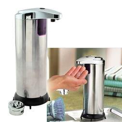 280ml IR Soap Dispenser Pump Kitchen Liquid Stainless Steel