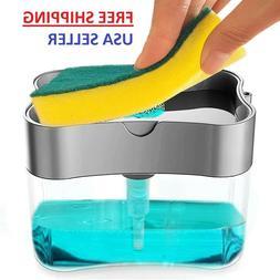 2in1 Soap Pump Dispenser & Sponge Holder Dish Soap Storage K