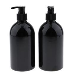 2Pcs 500mL Empty Lotion Pump Bottles Shampoo Soap Dispenser
