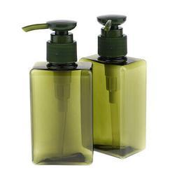 2x Empty Shampoo Lotion Pump Bottle Soap Dispenser Cosmetic