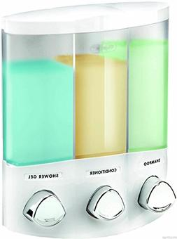 3 Chamber Shampoo Conditioner Soap Dispenser. Bathroom Showe