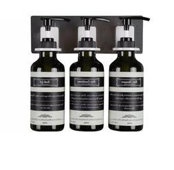 Frylr 3-Chamber Soap Dispenser, Wall Mount Shower Pump, 3 x
