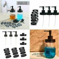 3 Pack Bpa-free Plastic Mason Jar Soap Lotion Dispenser Lid