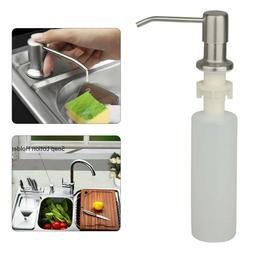 300ML Kitchen Sink Soap Dispenser Stainless Steel Hand Liqui