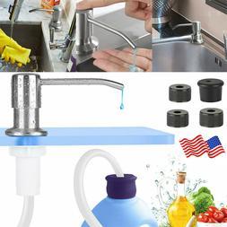 300ML Sink Soap Dispenser Brass Brushed Nickel Hands Liquid