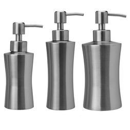 stainless steel soap pump liquid dispenser bathroom