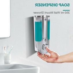 350ml Shower Shampoo Liquid Soap Lotion Dispenser Wall Mount