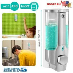 350ml Soap Dispenser Wall Mount Hand Liquid Shampoo Shower G
