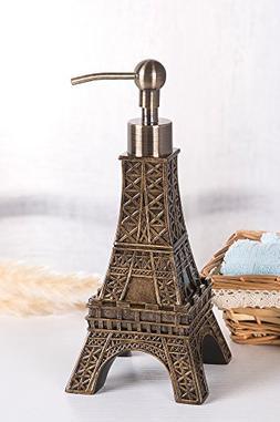 SILOKO 3D Eiffel Tower Metal Pump Soap Dispenser for Kitchen