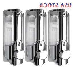 3X 350ml Wall Mount Soap Sanitizer Bathroom Washroom Shower