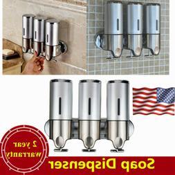 Wall Mounted Soap Shampoo Dispenser 3×500ml Shower Pump for