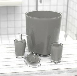 4 pcs Acrylic Plastic Bathroom Set Lotion Dispenser Soap Dis