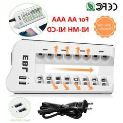 EBL 4 Slot / 8 Slot Smart Charger For AA AAA NI-MH NI-CD Rec