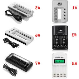 EBL 4 Slots / 8 Slots Smart Rechargeable Battery Charger For