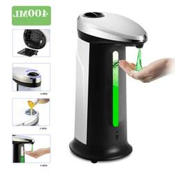 400ML Auto Touchless Soap Dispensers Liquid Handsfree Bathro