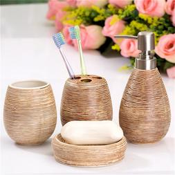 4Pcs/Set Bathroom Ceramic Suit Set Bathing Accessories Good