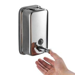 500/800/1000ML Bathroom Wall Mounted <font><b>Stainless</b><