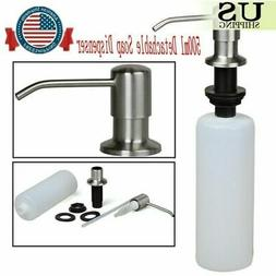 US 500ML Stainless Steel Soap Dispenser Easy Install Kitchen