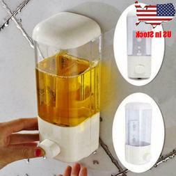 500ml Wall-Mount Soap Dispenser Bathroom Shower Lotion Shamp