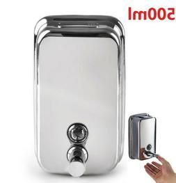 500ML Wall Mounted Liquid Soap Dispenser Bathroom Shampoo Ge
