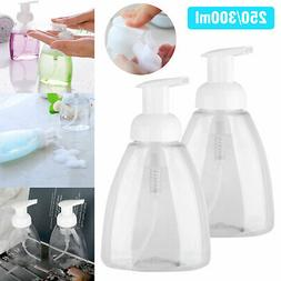 5PC Clear Gel Plastic Shower Foaming Bottle Soap Dispenser L