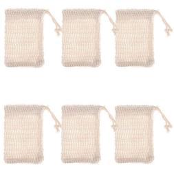 6 Pcs Natural Exfoliating <font><b>Soap</b></font> Bags Hand