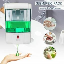 600ML Touchless Handsfree Automatic IR Sensor Soap Liquid Ge