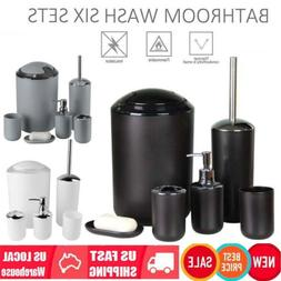 6Pc Bathroom Accessories Set Toothbrush Holder/Trash Can/Soa
