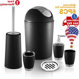 6PCS Bathroom Accessories Set  Bathroom Set Trash Can Soap D
