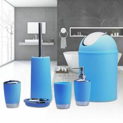 6PCS Bathroom Set Accessory Bin Soap Dish Toothbrush Holder