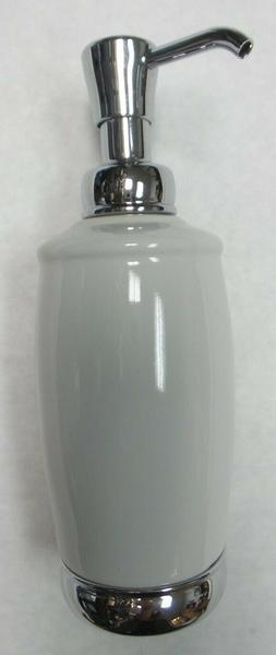 75601 ceramic soap pump dispenser with chrome