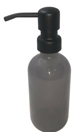 Gray Soap Dispenser 8oz Half Pint Liquid Dish Soap Holder Gr