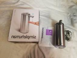 simplehuman 9 oz, Brushed Stainless Steel Sensor soap Pump O