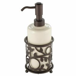 InterDesign Vine Ceramic Soap & Lotion Dispenser Pump for Ki