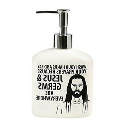 Jesus Soap Dispenser - Wash Your Hands and Say Your Prayers