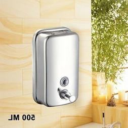 Stainless Steel Hand Soap Shampoo Dispenser Wall Mounted Soa