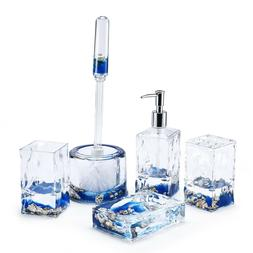 Locco Decor Acrylic Liquid 3D Floating Motion Bathroom kitch