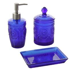 The Pioneer Woman Adeline Cobalt Blue Bath Soap Dispenser Ja